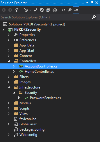 Account Controller in Project