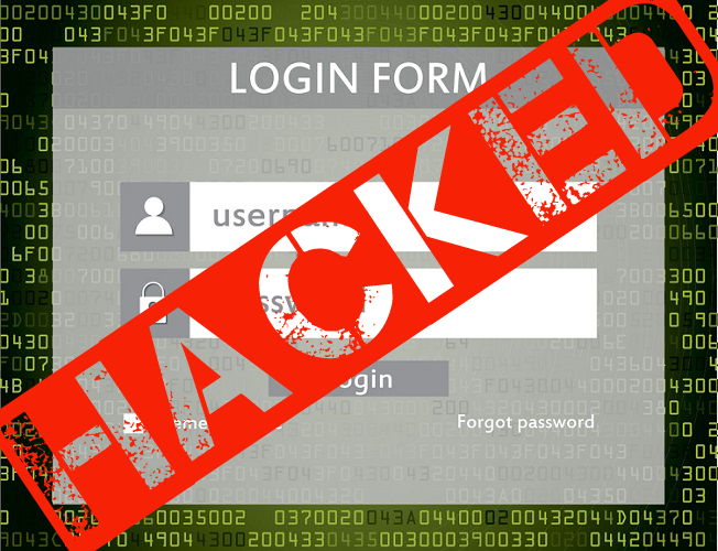 Hacked Login Form