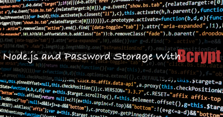 Node js and Password Storage with Bcrypt - Lock Me Down