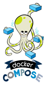 Docker Compose Logo of octopus with containers