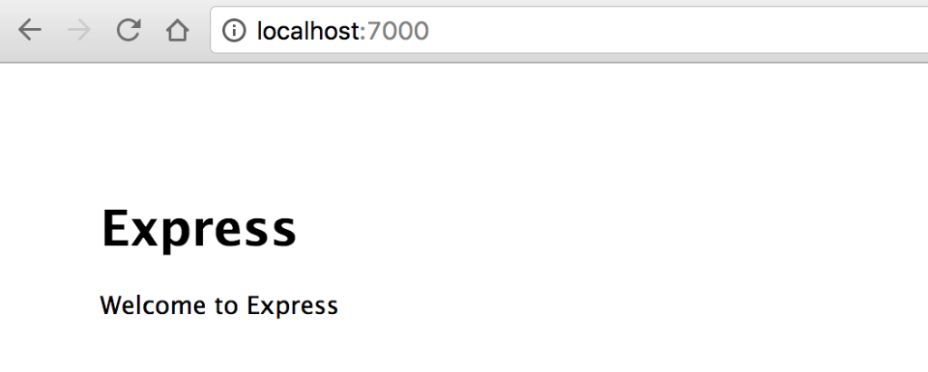 Picture of the running unaltered express site.